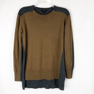 J Crew Oversized Wool Colorblock sweater